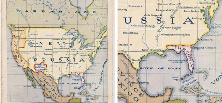 Haritanın I. Dünya Savaşı'nda Florida'nın Türklere verilmesinin planlandığını gösterdiği iddiası